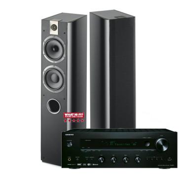 Legendinio  garso stereo komplektas  stiprintuvas ONKYO TX-8150 2x190W su kolėlėm Focal Chorus 716