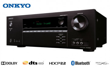 Namų kino stiprintuvas ONKYO TX-SR343 5.1 resyveris  5x120W TrueHD USB integruotas Bluetooth®