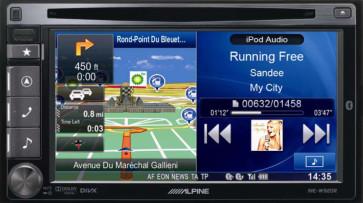 Auto magnetola ALPINE INE-W920R in-Dash 2jų dinų media resyveris navigacija One Look Navi