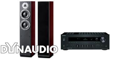 Ypatingai  gero garso stereo komplektas stiprintuvas ONKYO TX-8050   2x160W su kolėlėm Dynaudio DM 3/7