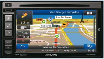 Auto magnetola ALPINE INE-W970BT in-Dash 2jų dinų media resyveris navigacija One Look Navi Bluetooth®