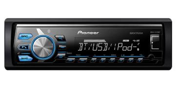 Automagnetola Pioneer MVH-X370BT Bluetooth USB  su AUX įėjimu, iPod/iPhone, FLAC, nemokamas pristatymas