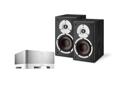 Denon Stereo sistema CONNECT:AMP (ZP120) stiprintuvas ir lentyninės kolonėlės SPEKTOR 2 HS Speciali kaina | Nemokamas pristatymas