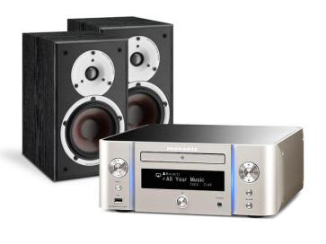 Denon Stereo sistema MCR611 stiprintuvas 2 x 60 W lentyninės kolonėlės SPEKTOR 2 HS Speciali kaina | Nemokamas pristatymas