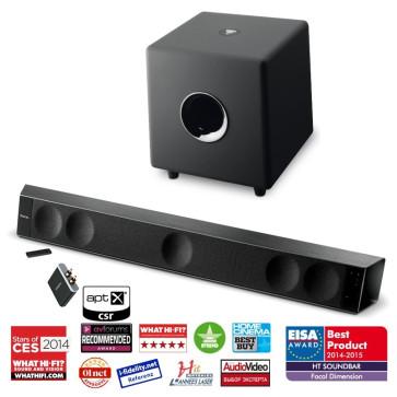 Focal Dimension soundbaras erdvinė 5.1 namų kino sistema DIMENSION + SUB CUB3 + BLUETOOTH 450W+150W Žemų dažnių garsiakalbis tik BALTOS spalvos