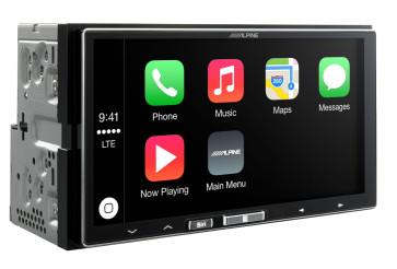 Auto magnetola ALPINE ILX-700 in-Dash 2jų dinų media resyveris su Apple CarPlay