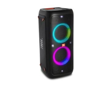 JBL PartyBox 300 Aukštos galios nešiojama audio sistema su Bleutooth ryšiu 10000mAh 18val grojimo laikas Mikrofono bei Gitaros jungtimis efektinėmis šviesomis dažnių juosta 45Hz-20kHz | Nemokamas Pristatymas