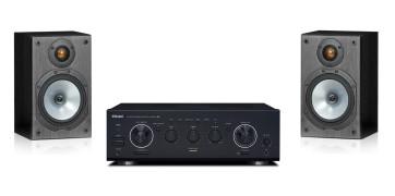 Namų kino sistema TEAC A-R630MKII inetgruotas stereo stiprintuvas, Monitor Audio MR1 lentyninės garso kolonėlės   Nemokamas pristatymas