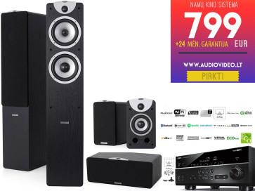 Namų kino sistema Yamaha RX-V483 stiprintuvas 5x160W garso kolonėlės Dynavoice Magic F-6 + S-4 + C-4 | nemokamas pristatymas