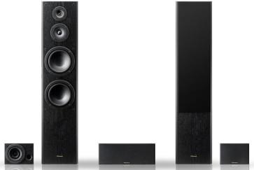 PIONEER S-ES3TB garso kolonėlės garsiakalbiai namų kino komplektas 5 vnt. juodos nemokamas pristatymas