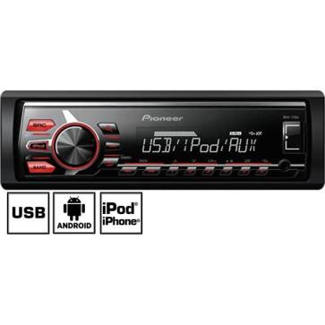 Automagnetola Pioneer MVH-170UI USB  su AUX įėjimu, iPod/iPhone, FLAC