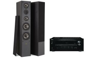 Stereo komplektas stiprintuvas ONKYO TX-8020   2x160W su kolėlėm Proson Event 655