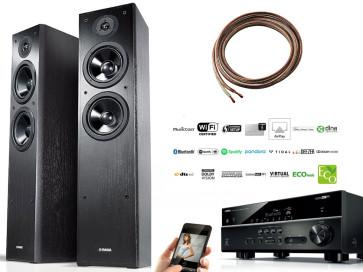 Stereo sistema Yamaha RX-V485 stiprintuvas interneto resyveris grotuvas 5x160W  garso kolonėlės Yamaha NS-F51 x 2 + DOVANOS   nemokamas pristatymas