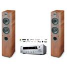 Stereo sistema Onkyo TX-8250 stereo 2.1 stiprintuvas resyveris 2x180W tinklo grotuvas WiFi su Focal Chorus 716 garso kolonėlės grindinės 200W