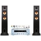 Stereo sistema Onkyo TX-8250 stereo 2.1 stiprintuvas resyveris 2x180W tinklo grotuvas WiFi su Klipsch R-26F grindinės garso kolonėlės 400W