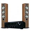 Namų kino sistema Onkyo TX-8270 stereo stiprintuvas resyveris 2x240W, Monitor Audio Bronze 6 ant grindų statomos garso kolonėlės | Nemokamas pristatymas
