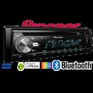 Pioneer DEH-X5900BT magnetola automobiliui Bluetooth Mixtrax USB nemokamas siuntimas 24 mėn. gamintojo garantija