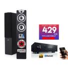 Stereo komplektas Yamaha R-S202D garso stereo stiprintuvas radijo imtuvas 2x140W su Dynavoice F-6 garso kolonėlėm | nemokamas pristatymas