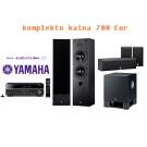 Yamaha namų kino komplektas RX-V379 kolonėlės NS-50F + NS-P60 žemų dažnių garsiakalbis YST-SW030