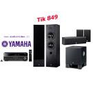 Yamaha namų kino komplektas RX-V481 kolonėlės NS-50F + NS-P60 žemų dažnių garsiakalbis YST-SW030