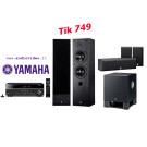 Yamaha namų kino komplektas RX-V381 kolonėlės NS-50F + NS-P60 žemų dažnių garsiakalbis YST-SW030