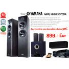 Namų kino sistema Yamaha RX-V481 stiprintuvas 5x160W namų kino kolonėlės Yamaha NS-F51 x 2 + NS-P160 + YST-SW030 žemų dažnių garsiakalbis