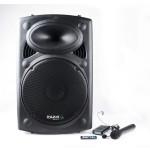 IBIZA Sound PORT15VHF-BT portabili garso kolonėlė su akumuliatorium ir mikrofonais 800W Max Bluetooth USB | nemokamas pristatymas