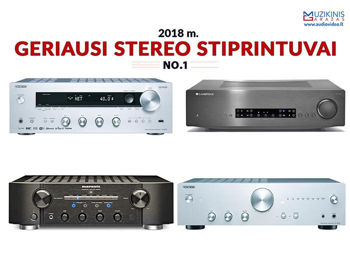 Geriausi 2018 metų stereo stiprintuvai kainų kategorijoje 205-799 Eur. Apžvalga.